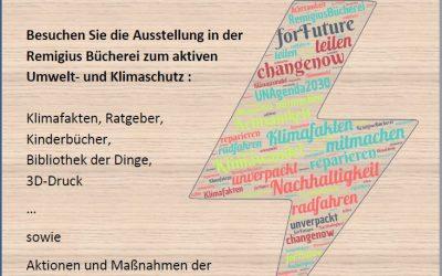 Ausstellung in der Remigius Bücherei | Klimawochen 2020